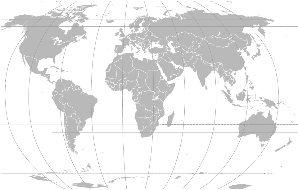 IP 4 All Network countries on world map
